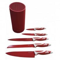 Set 5 cuchillos con base